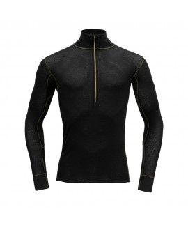 WOOL MESH MAN HALF ZIP - DEVOLD